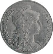 5 centimes Daniel-Dupuis (Essai en alumimium) -  avers