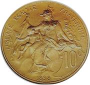 10 centimes Daniel-Dupuis (Epreuve en or) -  avers