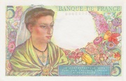 5 francs Berger (type 1943) – revers