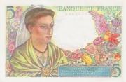 5 francs Berger (type 1943) -  revers