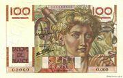 100 francs Jeune paysan (type 1945) -  avers