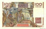 100 francs Jeune paysan (type 1945) -  revers