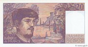 20 francs Debussy (type 1980) – revers