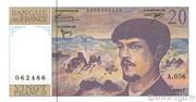 20 francs Debussy (type 1980 modifié) – avers