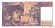 20 francs Debussy (type 1980 modifié) – revers