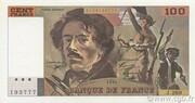 100 francs Delacroix (type 1978, articles 442-1 & 442-2) -  avers