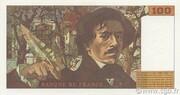 100 francs Delacroix (type 1978, articles 442-1 & 442-2) -  revers