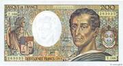 200 francs Montesquieu (type 1981 modifié) – avers