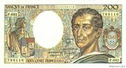 200 francs Montesquieu (type 1981 uniface) – avers