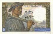 10 francs Mineur (type 1941) – avers