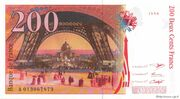 200 francs Eiffel (type 1995) -  revers