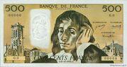 500 francs Pascal (type 1968) – avers