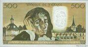 500 francs Pascal (type 1968) – revers