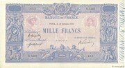 1000 francs Bleu et rose (type 1889) -  avers