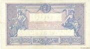 1000 francs Bleu et rose (type 1889) -  revers