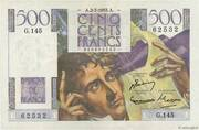 500 francs Chateaubriand (type 1945) -  avers
