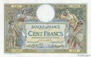 100 francs Luc Olivier Merson (type 1906 avec grands cartouches) – avers