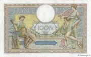 100 francs Luc Olivier Merson (type 1906 avec grands cartouches) – revers