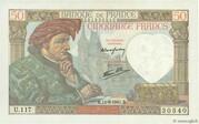 50 francs Jacques Coeur (type 1941) – avers