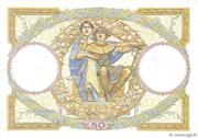 50 francs Luc Olivier Merson (type 1927 modifié) – revers