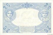 20 francs Bleu (type 1905) – revers