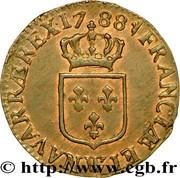 ½ sol à l'écu - Louis XVI -  avers
