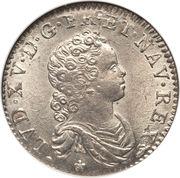 "Demi-écu dit ""vertugadin"" - Louis XV -  avers"