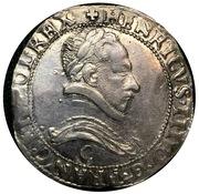 """Franc """"au col plat"""" - Henri III -  avers"""