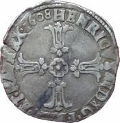 Quart d'écu (2e type) - Henri IV -  avers