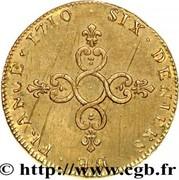 "Six deniers dits ''Dardenne"" - Louis XIV -  avers"