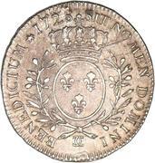 """Demi-écu dit """"aux branches d'olivier"""" - Louis XV -  avers"""