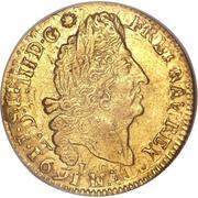 """Louis d'or """"aux quatre L"""" - Louis XIV -  avers"""