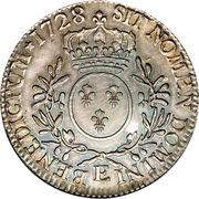 """Écu d'argent dit """"aux branches d'olivier"""" - Louis XV -  avers"""