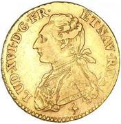 """Louis d'or """"aux palmes"""" - Louis XVI -  avers"""
