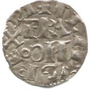 """Denier parisis - Philippe II dit """"Philippe-Auguste"""" – avers"""