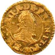 Denier-Tournois Henri III (Paris, Type 3) – avers