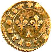 Denier-Tournois Henri III (Paris, Type 3) – revers