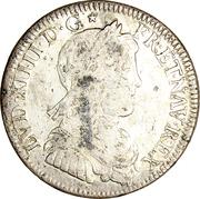 ¼ écu Louis XIV (à la mèche longue) -  avers