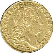 """Louis d'or au soleil - Louis XIV dit """"le Roi Soleil"""" -  avers"""