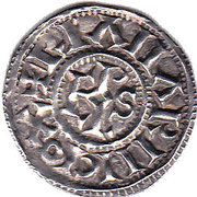 Denier - Charles III le Simple - Légende chrétienne – revers