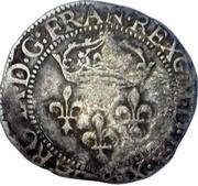 Double sol parisis 1er type Charles IX -  avers