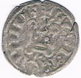 "Denier tournois (1er type) - Philippe II dit ""Philippe Auguste"" – revers"