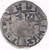 """Denier parisis de Montreuil-sur-Mer - Philippe II dit """"Philippe Auguste"""" – avers"""