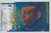 50 Francs Saint-Exupéry épreuve non-émis (type 1984) -  avers