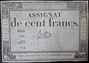 100 francs (assignat de ...) – avers