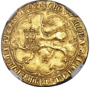 Léopard d'or - Edward III – avers