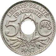 5 centimes Lindauer (Cupronickel, grand module) -  revers