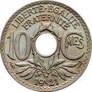 10 centimes Lindauer (Cupronickel, non souligné) -  revers