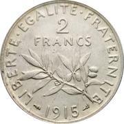2 francs Semeuse (Argent) -  revers