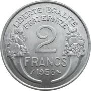 2 francs Morlon (Aluminium-magnésium) -  revers
